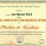 Marcel Vela – Primarul anului 2011 în Banatul Istoric