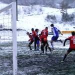 Fotbal pe pârtie, la Lupac