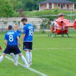 Elicopter SMURD la meciul Ezeriş – Caransebeş