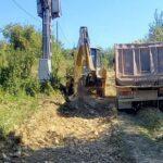 Pregătiri de asfaltare la Maciova